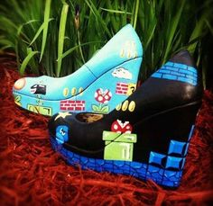 Mario Wedges! I would probably wear these all the time....