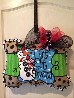 Let it Snow pillow burlee hanger