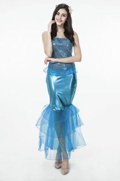 ハロウィーン クリスマス 制服 人魚姫 コスチューム 衣装 マーメイドコスプレ-Halloween-trw0725-0377…