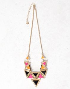 NECKLACE WITH TINY LACQUERED TRIANGLES Pull and Bear 05c69efade2