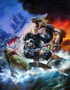 """This is an image of a Pandaren punching a shark in the face. You argument is invalid."" --Arryk"