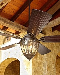 Scandia Outdoor Ceiling Fan at Horchow.-can be used for Indoor or Outdoor Outdoor Ceiling Fans, Outdoor Lighting, Lighting Ideas, Outdoor Fans, Indoor Outdoor, Porch Ceiling, Architecture Design Concept, Adirondack Furniture, Outdoor Furniture