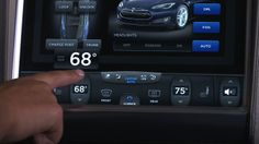 The UI of this control panel is nice, but distracting in the context of driving…