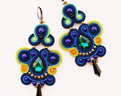 Soutache earrings. Soutache jewelry. by Soutachebypanka on Etsy