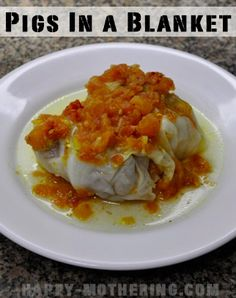 Gluten Free Game Day Recipes: Pigs in a Blanket {Stuffed Cabbage}