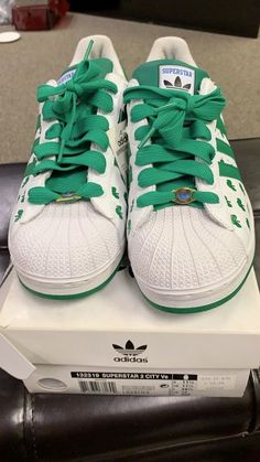 78d3cc7d4cc15 RARE🔥 Adidas Boston Celtics Lucky Green Gold White Leather SZ 11  Skateboarding