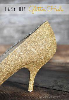 DIY Glitter Heels... make your heels even more fabulous!