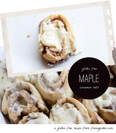 Gluten Free Maple Cinnamon Rolls  | G-Free Foodie #GlutenFree