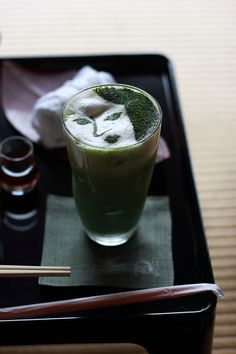 Green tea, Kyoto, Japan あるカフェにて : 京都写真(Kyoto Photo)