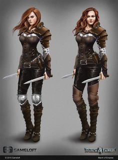 ArtStation - Female Rogue, Petya Kirisheva