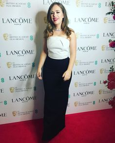 Not quite ready for this one, but here's a full length pic for those of you asking! Lots of love to you all on Valentine's Day ❤️ #EEBAFTAs #TheBeautifulMoment