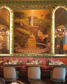 Annabels London Life, Cafe Design, Restaurant Design, Decor Ideas, American, Day, Garden, Shop, Painting