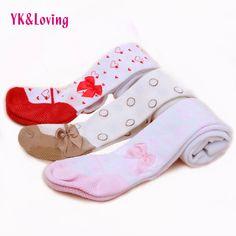 Coton Chaud Infantile Collants Bébé Vêtements Filles De Mode Rouge Rose brun Avec Arc Coeur Imprimé Pour 0-2 ans Bébé Nouveau-Né fille