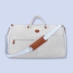 Leather-trimmed travel bag GREY/BLUE Boy - Nursery Clothes - Jacadi Paris