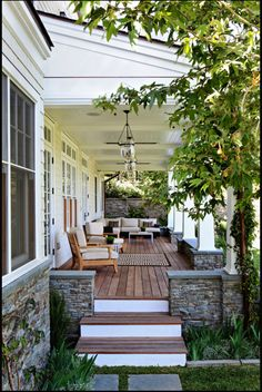 I love this patio…...Wood front deck