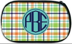Monogrammed Kids' Carry All Bag; Travel, Camp, Swim, Beach, Team Practice, MAD FOR PLAID by Pink Wasabi Ink
