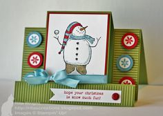 Stair Step Snowman card, Stampin' Up! Tri Fold Cards, Fancy Fold Cards, Folded Cards, Handmade Christmas, Christmas Fun, Christmas Cards, Xmas, Scrapbook Cards, Scrapbooking
