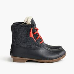 Shop the Women's Sperry for J.Crew Shearwater flannel boots at J.Crew and see the entire selection of Women's Footwear. Bootie Boots, Shoe Boots, Women's Boots, Ankle Boots, Timberland Boots Outfit, Sperry Duck Boots, Timberland Waterproof Boots, Yellow Boots, Shoe Company