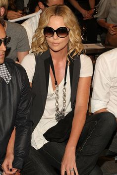 Charlize Theron Fashion Week wearing Tom Ford Marcella Sunglasses by The Guise Archives, via Flickr
