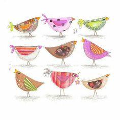 New Garden Illustration Kids Sweets Ideas Kunstjournal Inspiration, Art Journal Inspiration, Bird Illustration, Illustrations, Bird Drawings, Little Birds, Art Plastique, Bird Art, Beautiful Birds