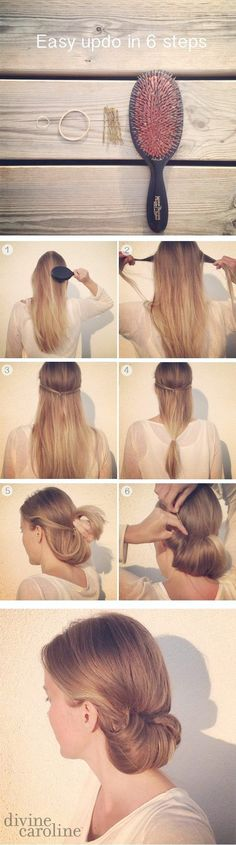 Splendid Easy Hairstyles for Work – Easy Updo in 6 Minutes – Quick and Easy Hairstyles For The Lazy Girl. Great Ideas For Medium Hair, Long Hair, Short Hair, The Undo and Shoulder Length Hair. Easy Updos For Long Hair, Updo Hairstyles Tutorials, Short Hair Styles Easy, Easy Hairstyles For Long Hair, Trendy Hairstyles, Hair Tutorials, Romantic Hairstyles, Makeup Tutorials, Diy Hairstyles