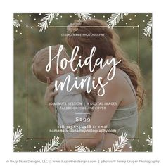 Mini Session Template | Holiday Minis