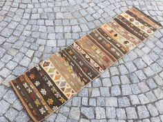Black Runner Rug, Black Runners, Kilim Runner, Stair Well, Vintage Wool, True Colors, Small Rugs, Kilim Rugs, Handmade Rugs