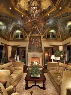 25 Amazing Living Room Design Ideas : Majestic Living Room Design With Thomas Oppelt Narrow View Of Ceiling And Golden Brown Velvet Sofa And...