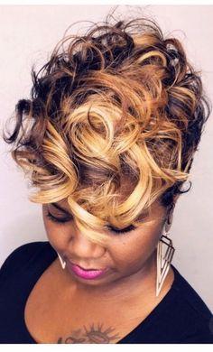 Curly Hair Styles, Natural Hair Styles, Bob Hairstyles For Fine Hair, Short Sassy Hairstyles, Hair Affair, Relaxed Hair, Love Hair, Short Hair Cuts, Pixie Cuts