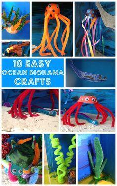Easy Ocean Diorama Crafts