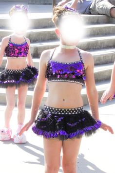 Custom Girls Competition Dance Costume Tap Jazz Purple Black | eBay