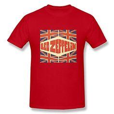 Jahei Custom Led Zeppelin Rock Band T Shirt For Juniors Red Medium