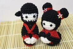 Couple de japonnais by Le Royaume des têtes d'épingles. Modèle gratuit.