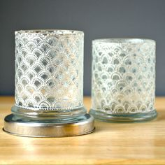A Pair of Hand Painted Votive Holders with Intricate by LITdecor, $38.00