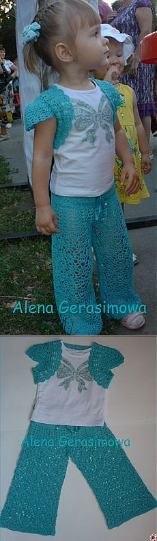 & Quot;  Turquoise for the little princess & quot;  (Pants and bolero).