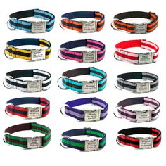 Personalized Engraved Dog Collar - Layered Stripe