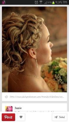 Hot updo for ivy