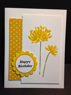 Too Kind, Birthday Card, Stampin' Up!, Rubber Stamping, Handmade Cards, Quick Cards