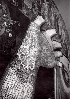 unavidamoderna: Detalle del mural de mosaico de vidrio de Diego Rivera, Teatro de los Insurgentes, México, DF 1952 Detail of the glass mosaic mural by Diego Rivera, Teatro de los Insurgentes, Mexico City 1952