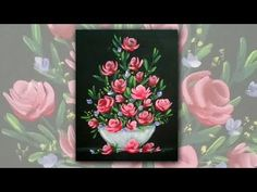 Acrylic Painting Roses in a Vase Impressionist Floral Painting Demo