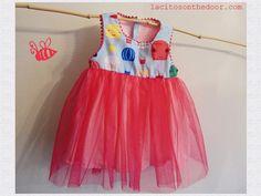 Vestido niña falda de tul fucsia - Lacitos On The Door