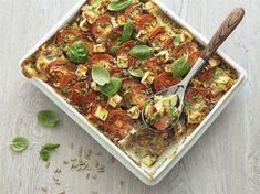 Tomaattinen kasvis-pastavuoka - Risenta AB Yummy Drinks, Vegetable Pizza, Nom Nom, Gluten Free, Dishes, Vegetables, Cooking, Recipes, Plants