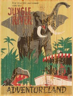 Giclee Printed Jungle Cruise Attraction Poster by faisonstout