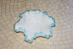 Vintage Fenton Aquacrest Candy Bon Bon 1950s