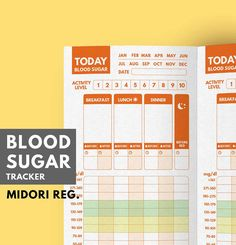Blood Sugar Daily Tracker Printable ▹ for Diabetes Patient SECRET TO SUCCESS with diabetes is KEEPING RECORDS and learning from them Let Blood Sugar