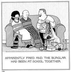 Burglar Friend Fred cartoons by Rupert Fawcett Funny Bunnies, Cat 2, Twisted Humor, Jokes, Comics, World, Cartoons, It's Funny, Bunny