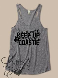 I work out to keep with my Coastie tank top