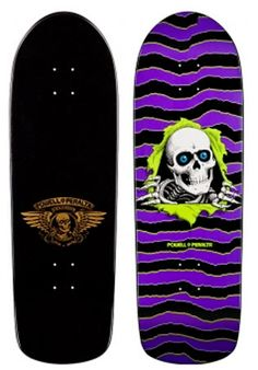 Powell Peralta Skateboard Deck featuring the Ripper. Have this one hung up in our living room.