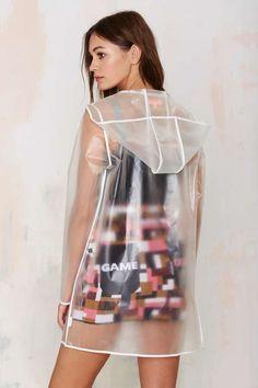 All Clear Plastic Rain Coat - Coats Raincoat Outfit, Hooded Raincoat, Green Raincoat, Dog Raincoat, Casual Outfits, Fashion Outfits, Womens Fashion, Vinyl Clothing, Raincoats For Women