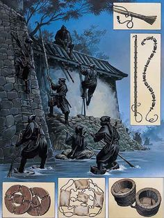 "Wayne Reynolds: ""Ninja on campaign: Entering a castle"""